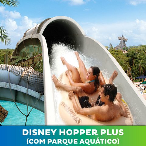 Ingresso Disney World + Hopper Plus (com Parque Aquático)
