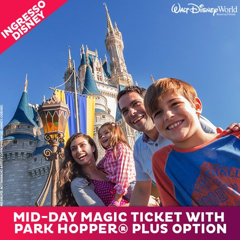 INGRESSO DISNEY MID-DAY MAGIC PARK HOPPER PLUS - SETEMBRO - comprar online