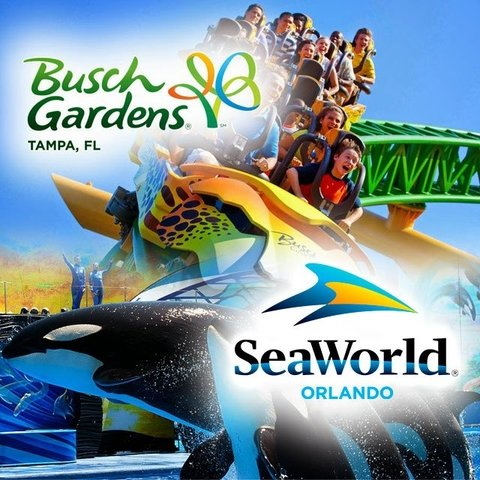 Ingresso combo Sea World + Busch Gardens