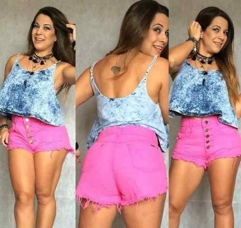Imagem do Shorts Jeans Hot Pant Cintura Alta