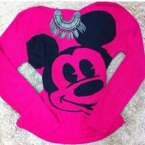 Blusa Manga Longa em Tricot Estampa do Mickey na internet