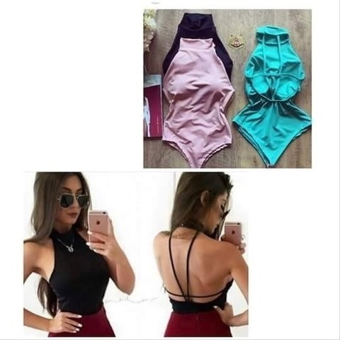 Body Feminino com Bojo Tiras nas Costas - Mais que Fashion