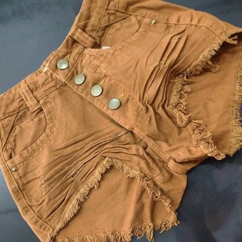 Shorts Jeans Hot Pant Cintura Alta - Mais que Fashion