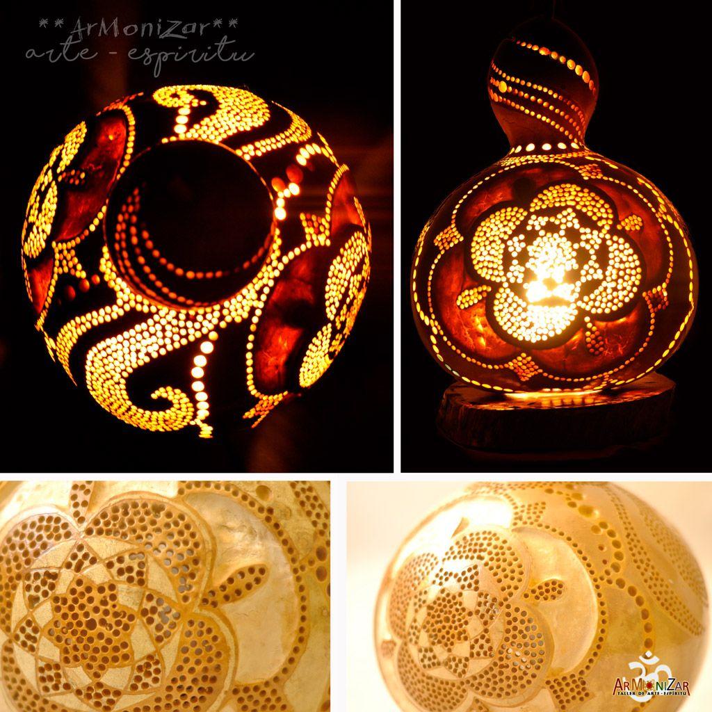 Lamparas de Calabaza - Gourd Lamps