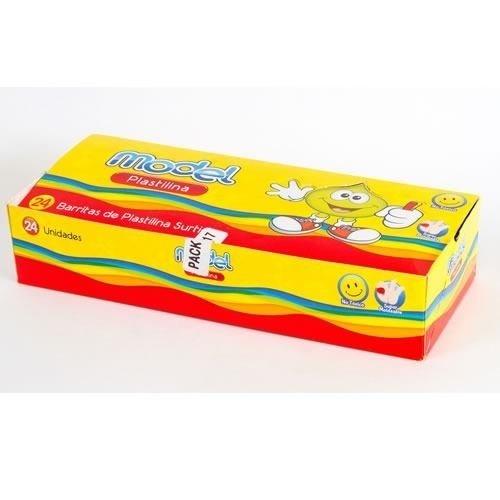 Plastilina Model De Colores Surtidos Caja X 24 Barritas