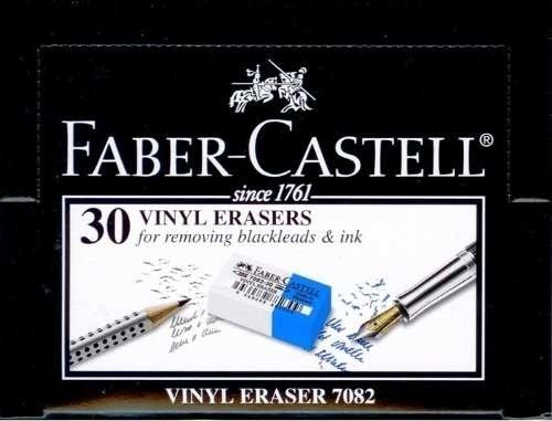 Goma De Borrar Vinilica Faber Castell 7082 Caja X 30 Unid.