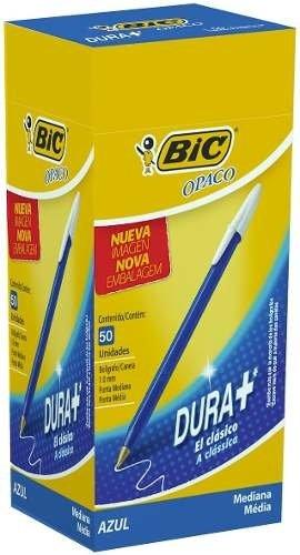 Pack X 10 Cajas De Boligrafo Bic Opaco Caja X 50 Unidades