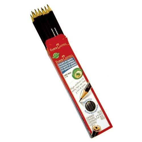 Lapiz Negro Grafito Eco Faber 1205 Nº2 Hb Caja X 12 Unidades