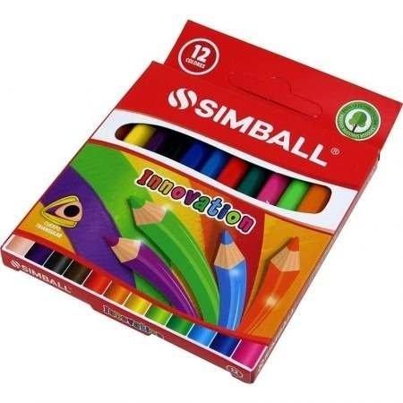 15 Lapiz Color Simball Caja X 12 Lapices De Colores Cortos