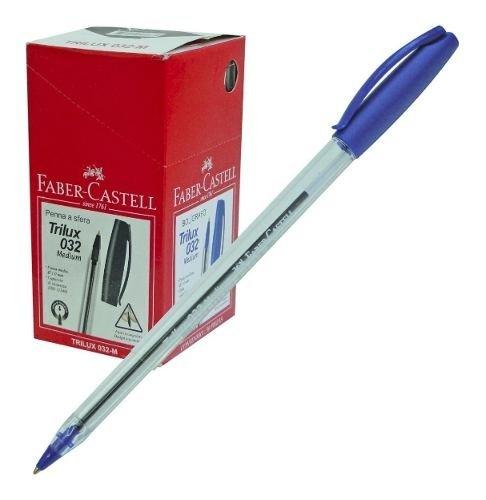Pack X 4 Boligrafo Faber Castell Trilux 032 1 Mm Caja X 50u