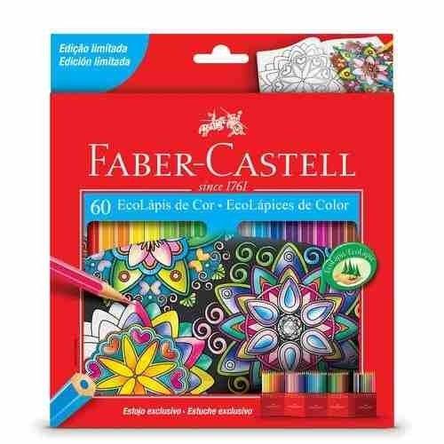 Lápices De Colores Largos Faber Castell Caja X 60 Unidades