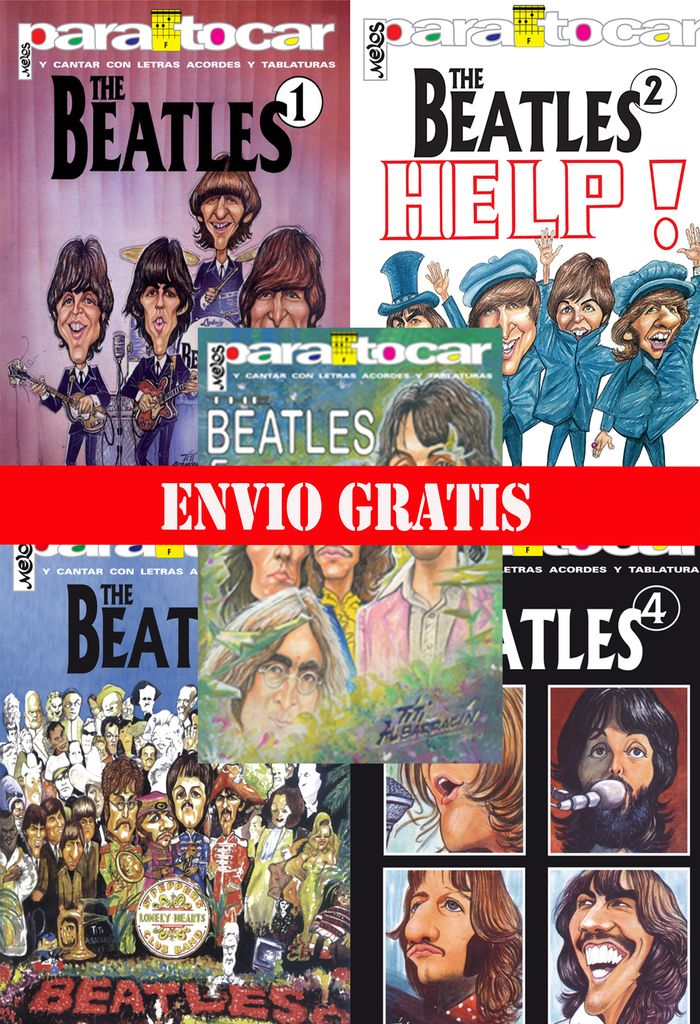 KIT MELOS  CANCIONEROS BEATLES 1,2,3,4,5