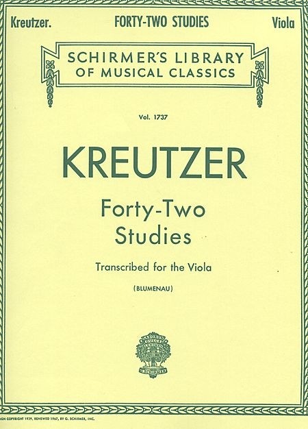 Forty-Two Studies (Viola) - Rodolphe Kreutzer - CONSULTAR STOCK