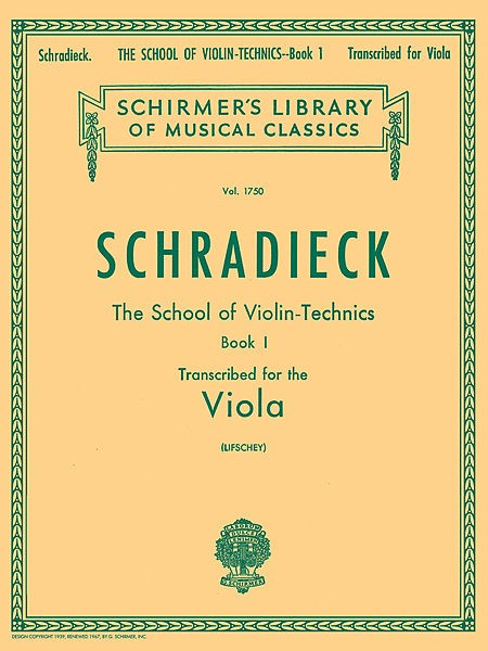 School of Violin Technics, Op. 1 - Book 1 - Henry Schradieck - CONSULTAR STOCK