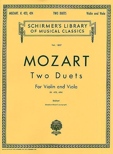 Two Duets, K.423 and K.424 - Wolfgang Amadeus Mozart  - CONSULTAR STOCK