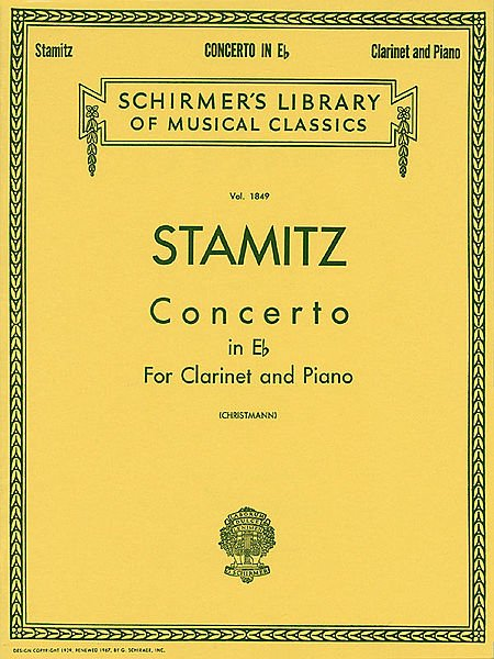 Concerto No.6 (Clarinet/Piano) - Carl Stamitz