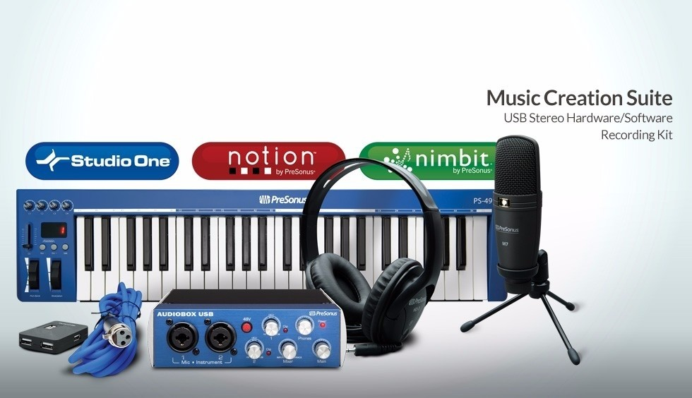 Kit Grabacion Presonus Usb Music Creation Suite
