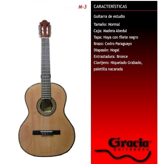 GUITARRA CRIOLLA GRACIA MODELO M3 COLOR AZUL