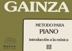 METODO de PIANO - Vol. 3º - GAINZA