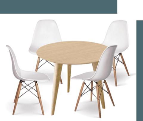 Mesa de 90 y sillas comedor for Mesa alta comedor