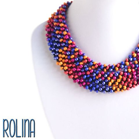 Duo Collar | SINFIN | vidrio multicolor