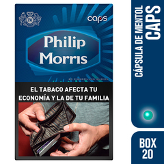 PHILIP MORRIS CAPS BOX 20
