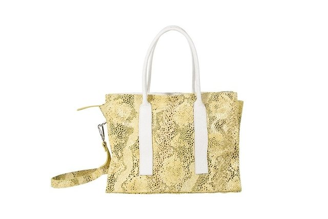 cartera rectangular amarillo boa
