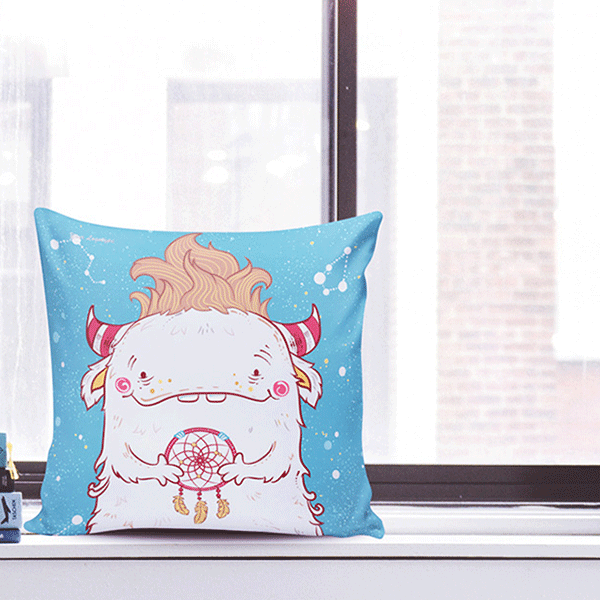 Almohadon monster peace - comprar online