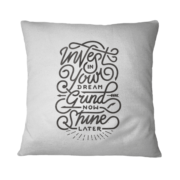 Almohadones decorativos con frase