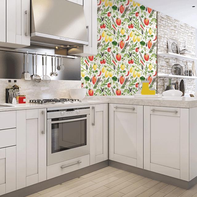 Papel para empapelar cocinas empapelado vinilo cocina for Cocinas empapeladas
