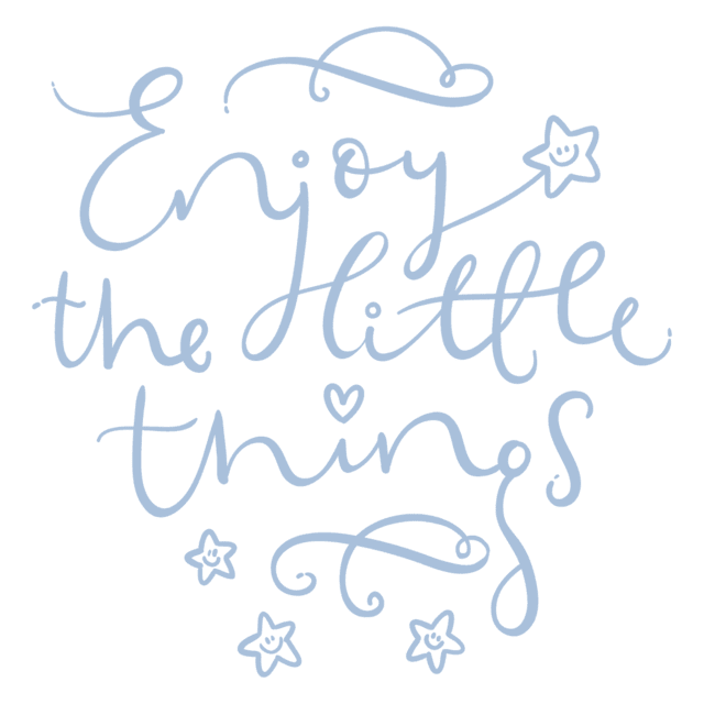 Vinilo Enjoy the little things color - comprar online