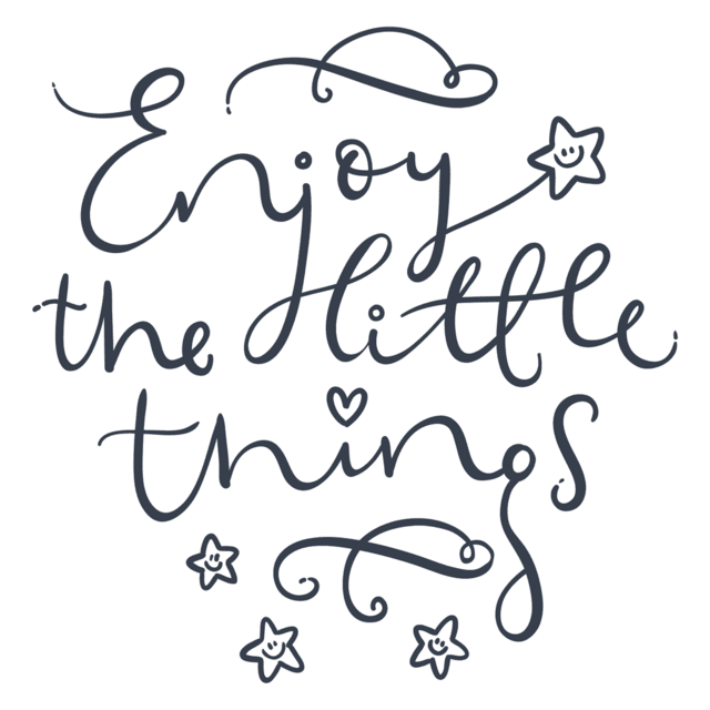 Vinilo Enjoy the little things color - tienda online