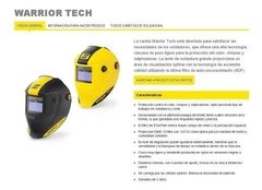 Careta Fotosensible Conarco Esab Warrior Tech Amarilla - comprar online