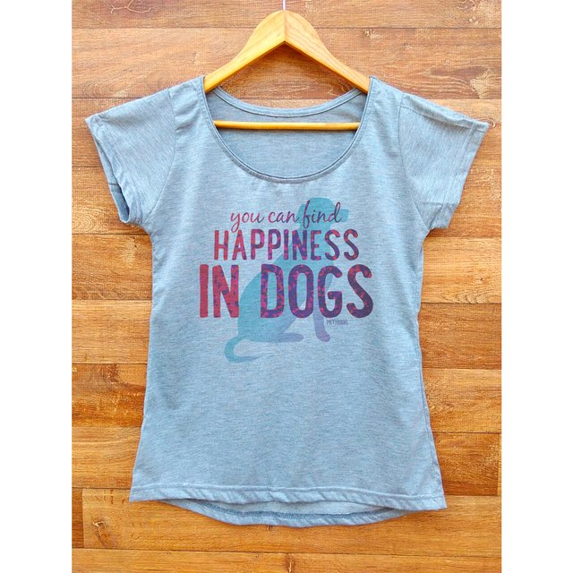 T-Shirt Feminina You Can Find Happiness - Dog - comprar online