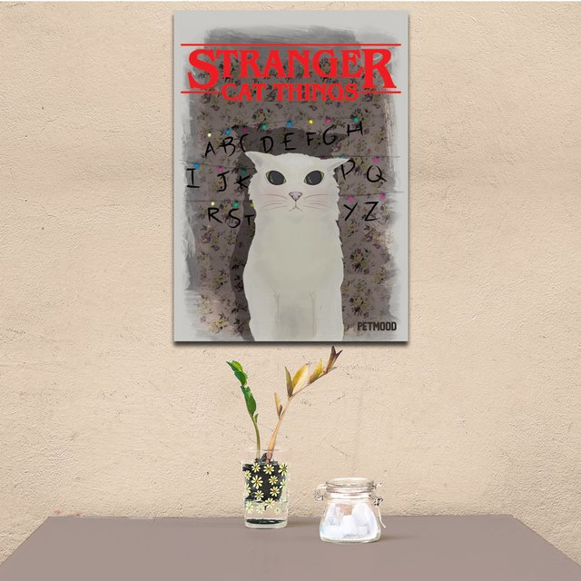 Quadro Stranger Cat Things - Outlet