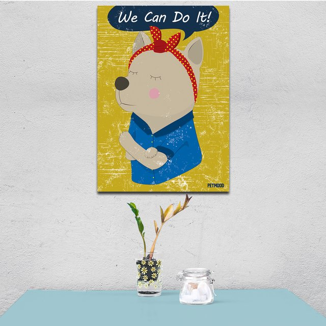 Quadro We Can Do It - Dog e Cat - Outlet - comprar online