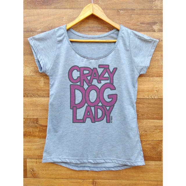 Camiseta Feminina Crazy Dog Lady