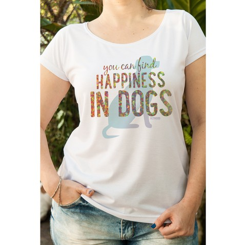 T-Shirt Feminina You Can Find Happiness
