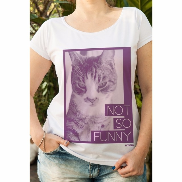 T-Shirt Gato Not So Funny - Outlet
