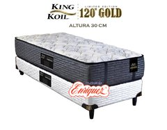 COLCHÓN RESORTES KING KOIL 120 GOLD FIRM + SOMMIER KING KOIL 80X190