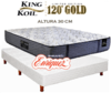 COLCHÓN RESORTES KING KOIL 120 GOLD FIRM 140X190 + SOMMIER KING KOIL