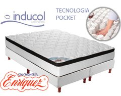 COLCHON RESORTES INDUCOL POCKET FIRM 180X200 + SOMMIER