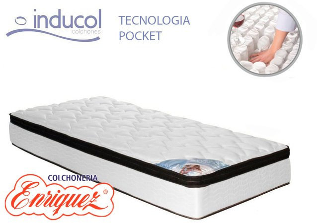 COLCHON RESORTES INDUCOL POCKET FIRM 80X190