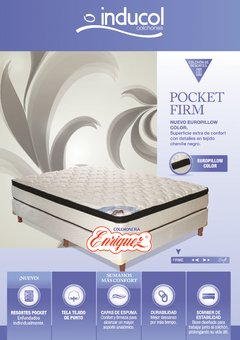 COLCHON RESORTES INDUCOL POCKET FIRM 140 + SOMMIER - comprar online