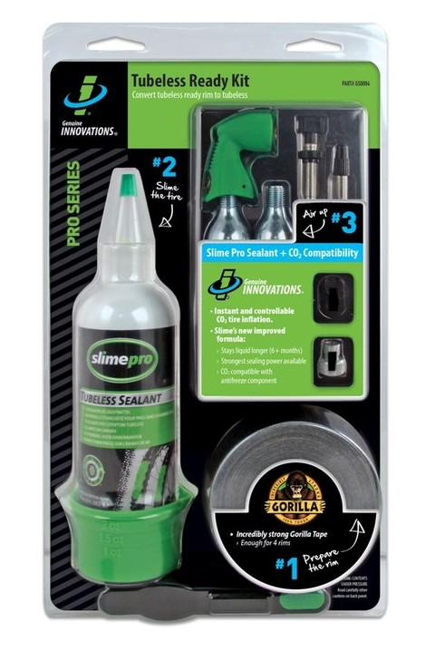 Kit Completo Para Tubelizar Ruedas Tubeless Ready Slime Kit