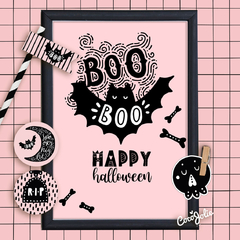 Kit Imprimible Pink Halloween Rosa - CocoJolie Kits Imprimibles