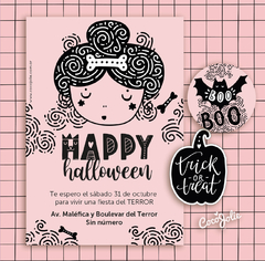 Kit Imprimible Pink Halloween Rosa