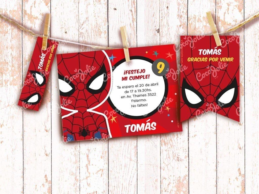 Kit Hombre Araña Imprimible Personalizables
