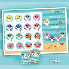 Imagen de Kit Imprimible Baby Shark. Personalizable