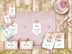 Kit Imprimible Boho Chic Étnico Personalizable en internet